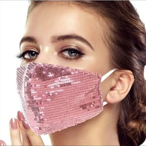 Accessories - Any 2 $30 Pink Sparkle Sequin Facemask